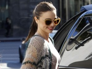 Miranda Kerr's Latest Style – Black Halterneck Dress