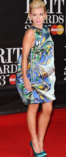 katherine jenkins at brit awards-showbizbites