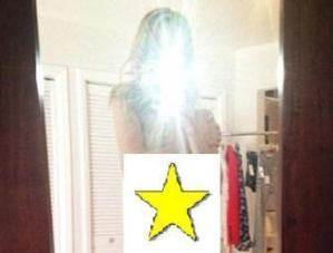 Rosie Huntington-Whiteley Shows Photo Tossing Top Aside