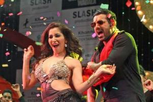 Sunny Leone and Sophie Choudhary Sizzle for Shootout at Wadala's Promotions