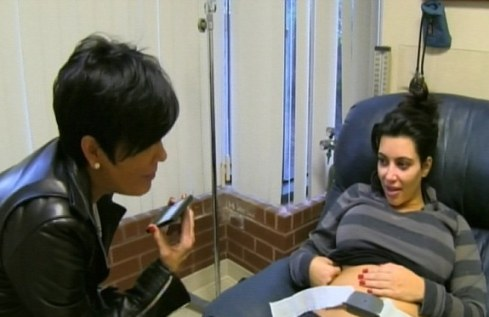 kim gives birth-kim with mom-showbizbites