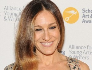 Sarah Jessica Parker's Tea-Length Floral Frock and Her Cleavage