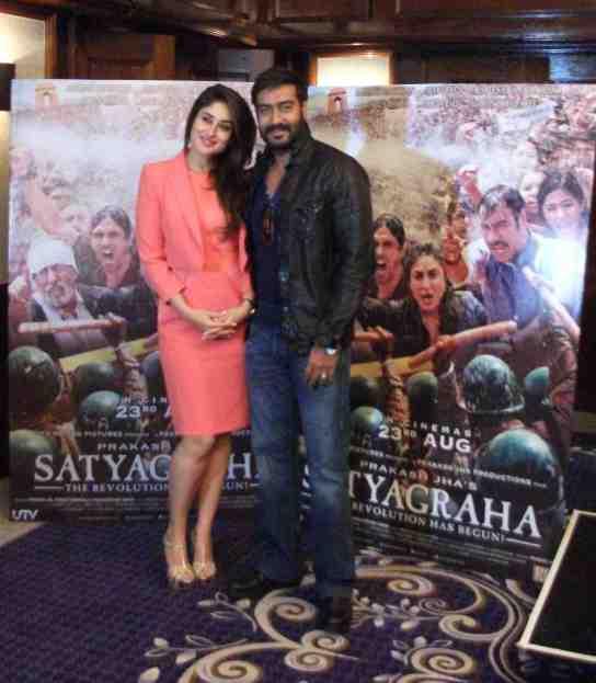 Ajay and Kareena in London launch Satyagraha' trailer-showbizbites