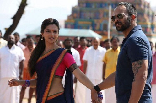 Deepika Padukone, Rohit Shetty at Chennai Express Shooting Photos