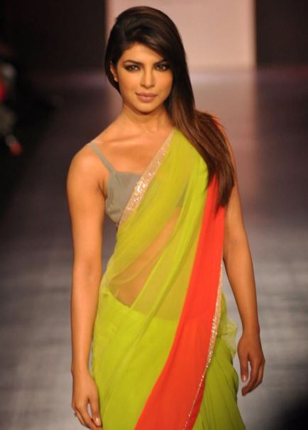 priyanka in saree-showbizbites