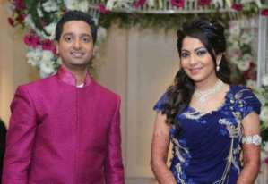 Pictures of VJ-TV Anchor Ramya and Aparajit Wedding Reception