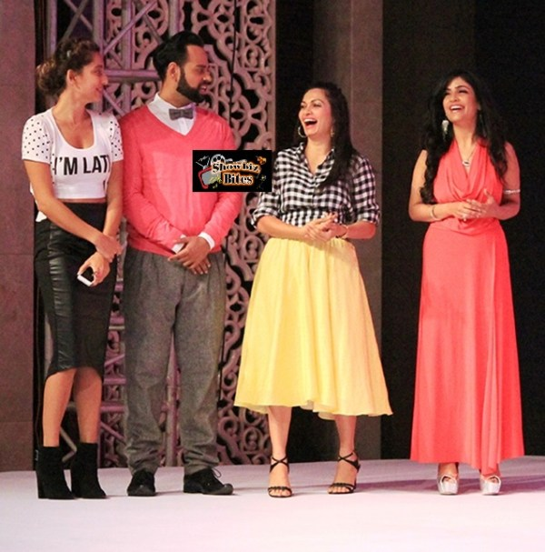 Anusha Dandekar, VJ Andy, Maria Goretti and Shibani Kashyap at # fame launch event