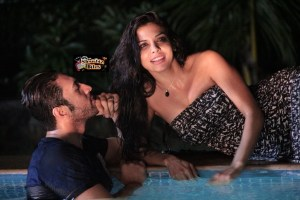 Pictures: Adhyayan Suman and Sara Loren Cozy Up by Pool Side