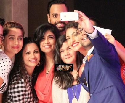 Comedian Saloni, VJ Andy, singer Shibani Kashyap, Maria Goretti & Anusha Dandekar at #fame launch event