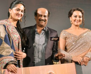 Photos: Lingaa Audio Release – Sonakshi Sinha Looks Stunning with Rajinikanth