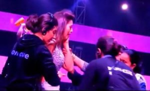OMG: Gauhar Khan Slapped by a Male During the Show…Why? Photos