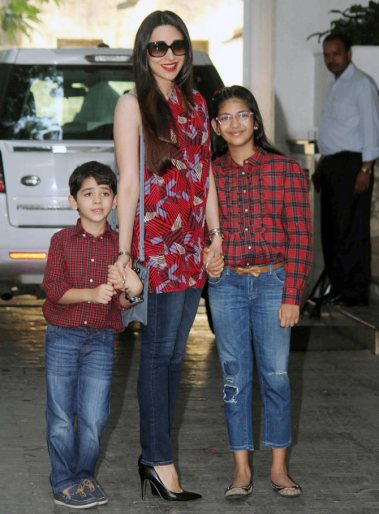 karishma with kids