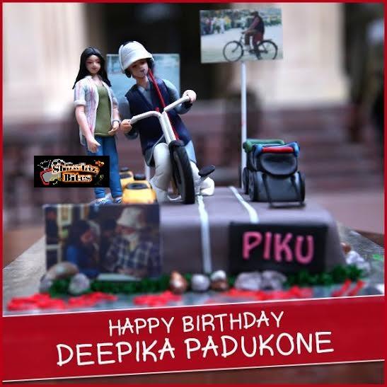deepika bday cake