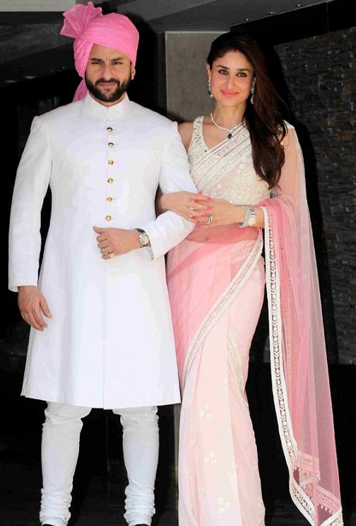 saif and kareena at soha's wedding