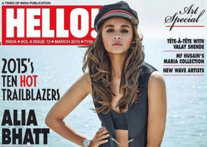 Alia Bhatt on Hello Cover - 01