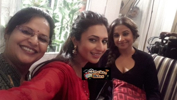 Vidya Balan on the Sets of Yeh Hai Mohabaatein-02