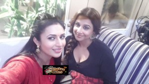 PHOTOS: Vidya Balan's Cleavage Moments on the Sets of Yeh Hai Mohabaatein Show