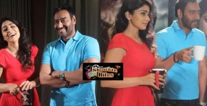 PHOTOS: Ajay Devgn and Shriya Saran Truly Jolly at Drishyam Promotions