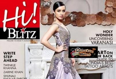 Shraddha Kapoor on Hi Blitz Cover Page