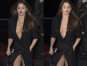 PHOTOS: Selena Gomez Suffers a Serious Wardrobe Malfunction at PFW