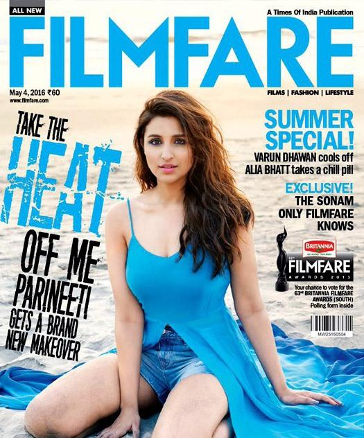 Parineeti Chopra on Filmfare magazine cover