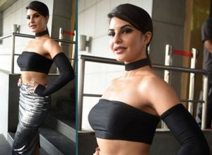 Jacqueline Fernandez's Hot 'n' Spicy Look at Dishoom Trailer Launch