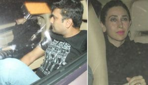 SPOTTED: Karisma Kapoor with Rumored Boyfriend Outside Shashi Kapoor's Home