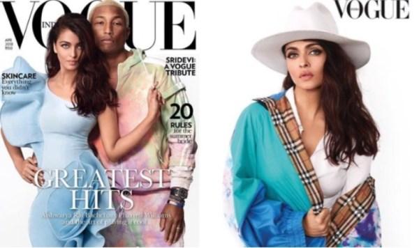 Aishwarya Rai Bachchan and Pharrell Williams