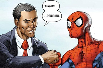Obama and Spidey campaigning together for '09?