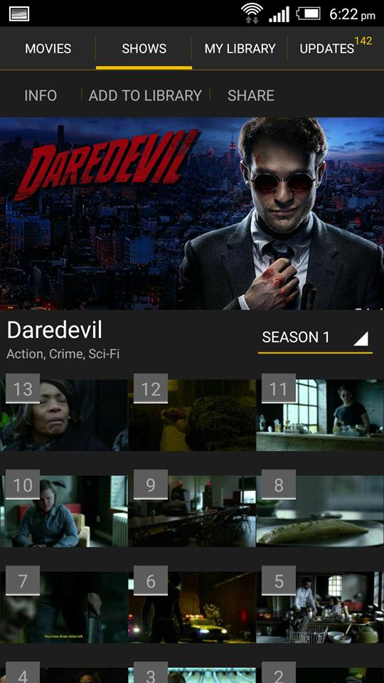 Daredevil on ShowBox 2