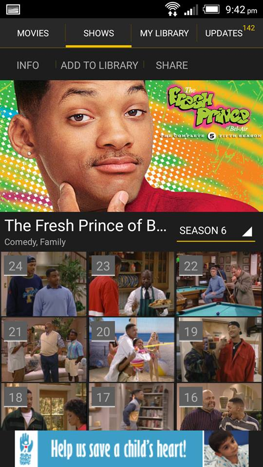 The Fresh Prince of Bel-Air on ShowBox