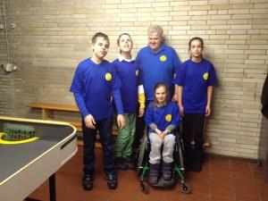Frankfurter Kindertraining - Martin mit den vier Kindern