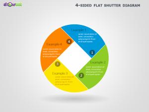 4Sided Shutter Diagram for PowerPoint
