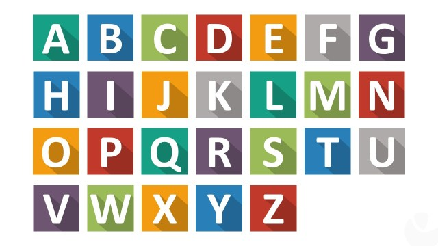 Flat Design Letters For Powerpoint With