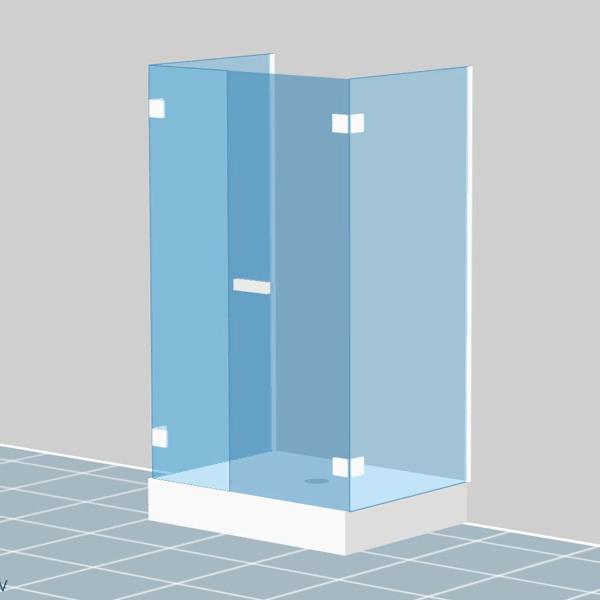parois pour cabine de douche sur mesure