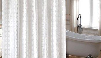 Ufaitheart High Quality Extra Long Fabric Shower Curtain 72 X 84 Inch