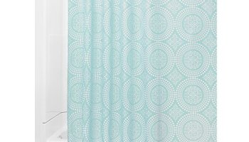 Mint And Grey Shower Curtain. InterDesign Medallion Fabric Shower Curtain  72 x White Mint Daizy Gray and Inch