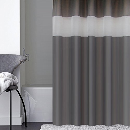 Dark Gray Shower Curtain Extra Long 72 Inch X 78 Fashion Polyester Curtains For Bathroom