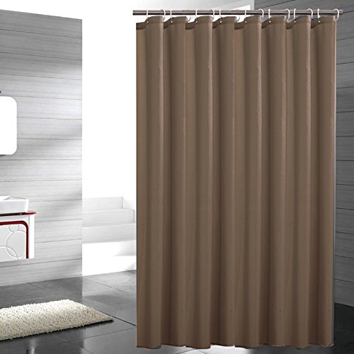 Eforgift Water Repellent Fabric Shower Curtain Polyester Standalone Easy  Clean Mildew Resistant Shower Curtain Extra Long Durable And Soft, ...