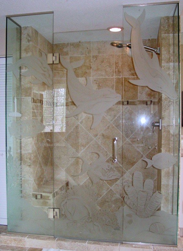 Etched Glass Shower Doors In Bonita Springs Fl