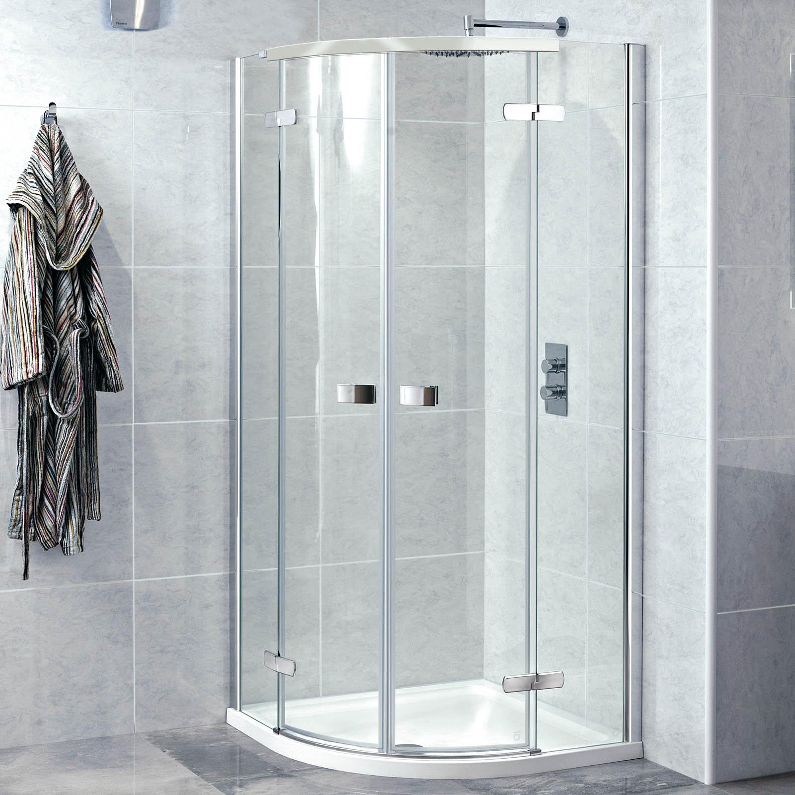 Phoenix Idyllic Hinged Quadrant Frameless Shower Enclosures 2 Sizes