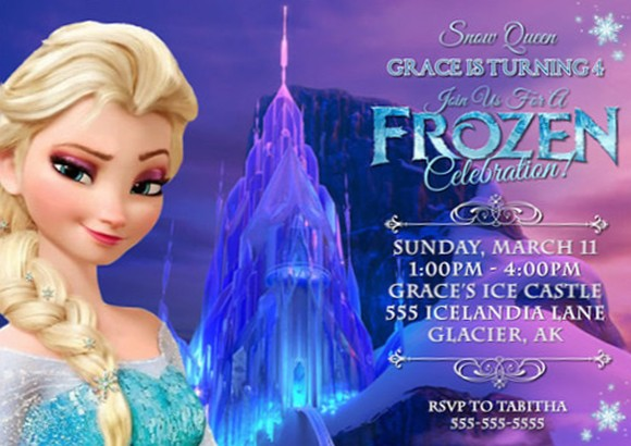 Using Frozen Theme For Girls Party Invitations