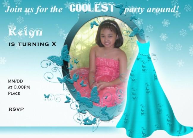 frozen birthday party invitation sample