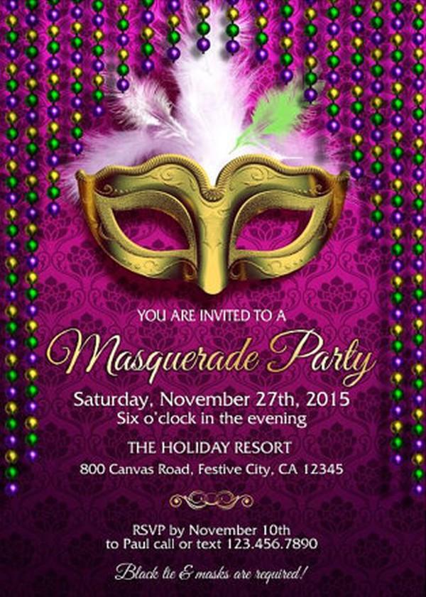 How To Design Masquerade Party Invitations Invitations Online