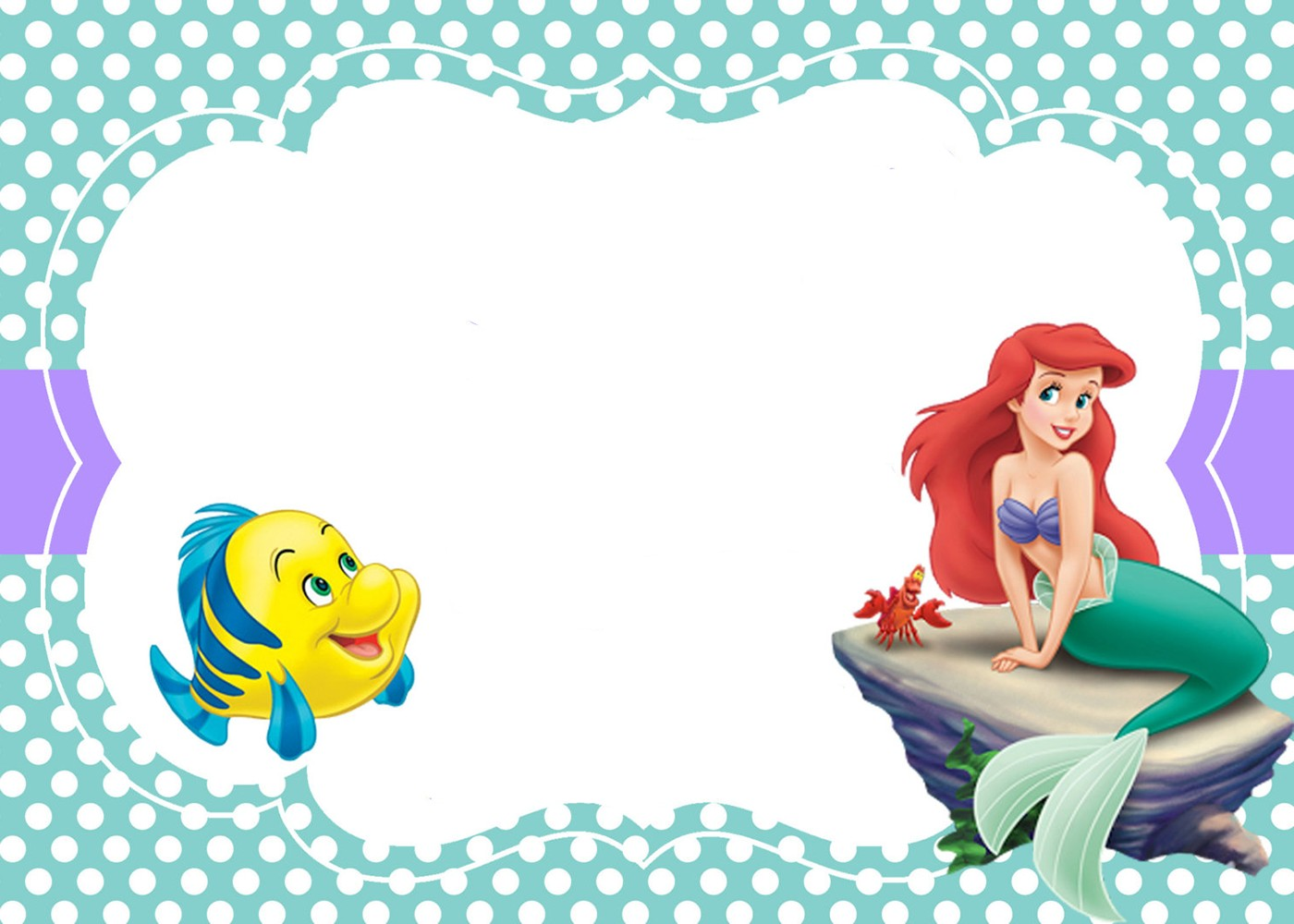 Little Mermaid Free Printable Invitation Templates Invitations Online