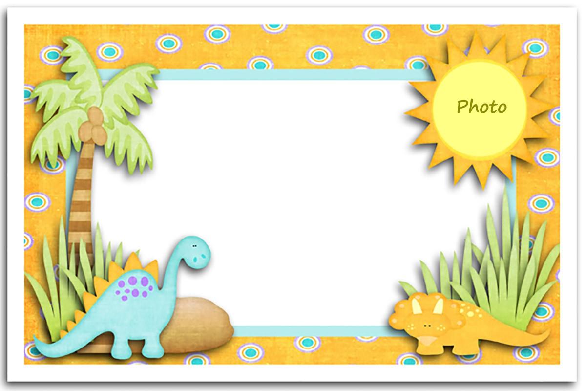 editable dinosaur first birthday