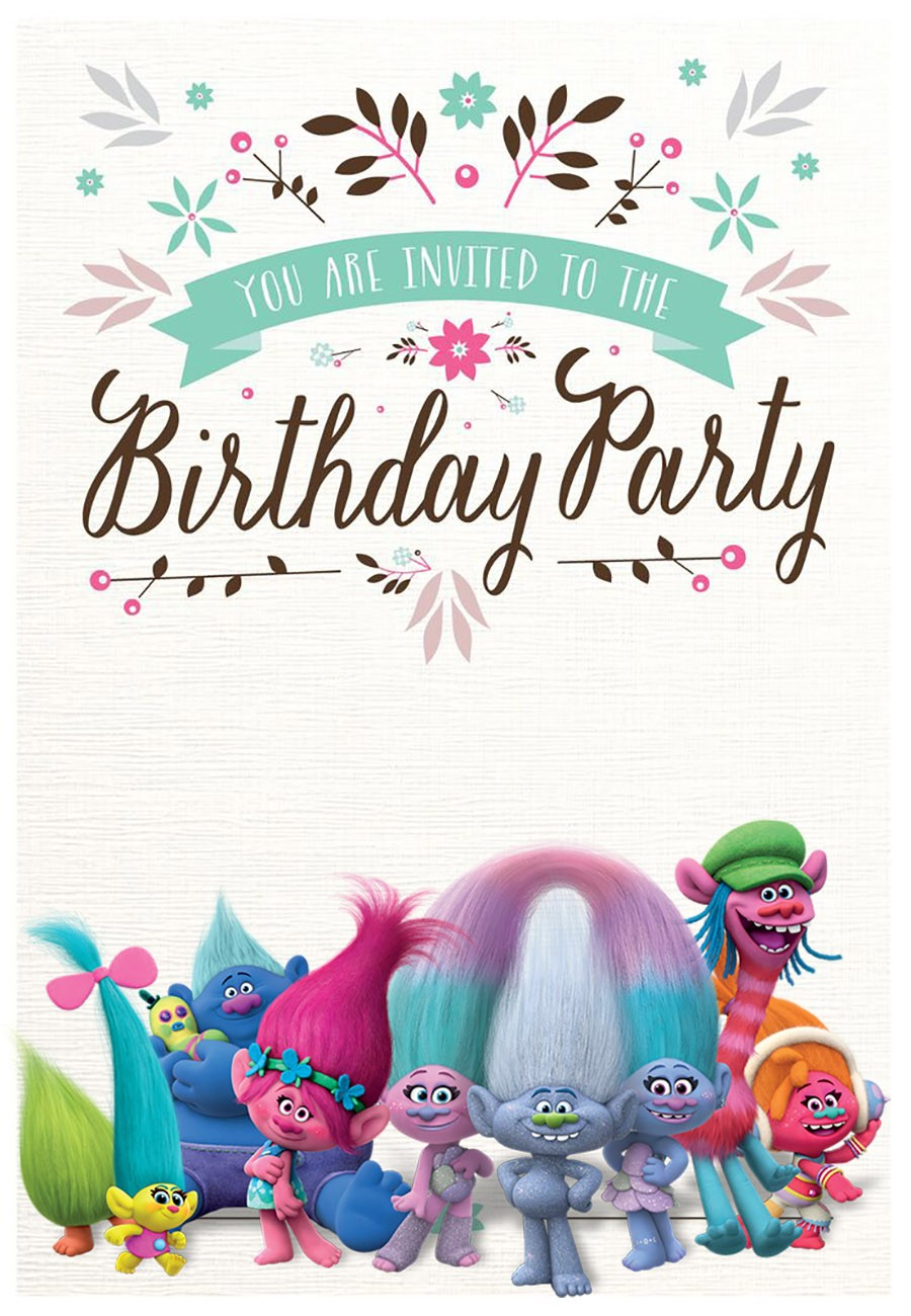 Free Printable Trolls Invitation Templates Invitations