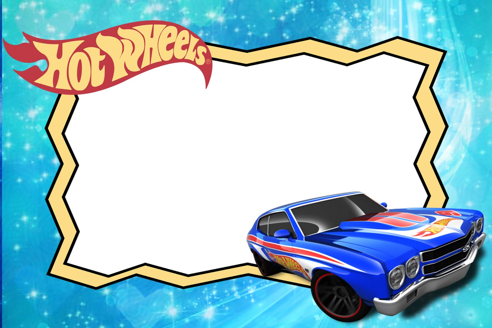 Free Printable Hot Wheels Invitation Templates For