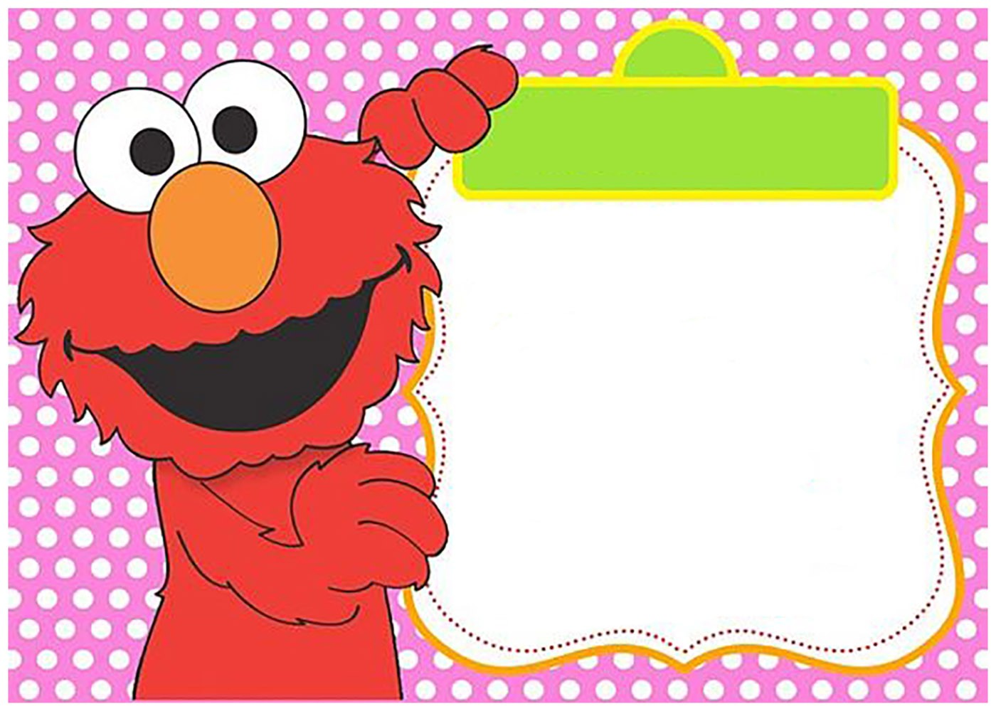 Free Printable Elmo Invitation Templates Invitations Online