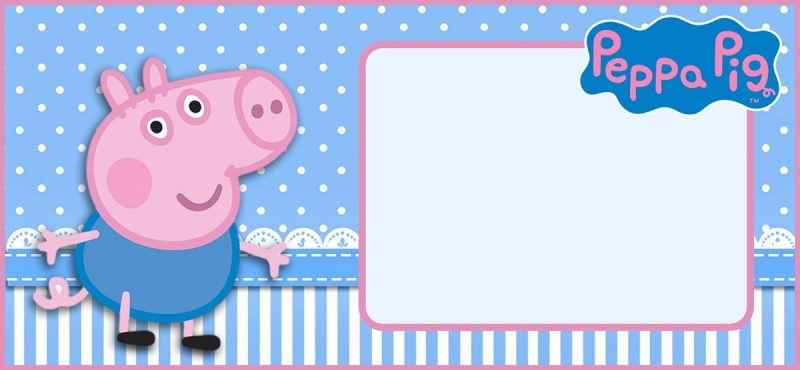 incredible peppa pig invitation